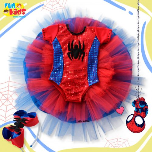Fantasia Feminina Homem aranha + Tiara
