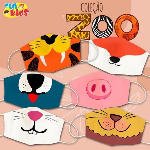 Kit Máscaras Zoo