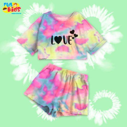 Conjunto Tie dye love
