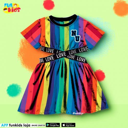 Vestido Now Uniter Multicolor